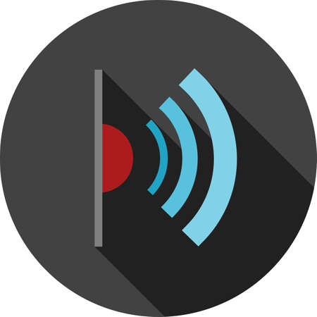 infrared: Infrared, red, light, signals icon vector image. Can also be used for communication, connection, technology. Suitable for web apps, mobile apps and print media.