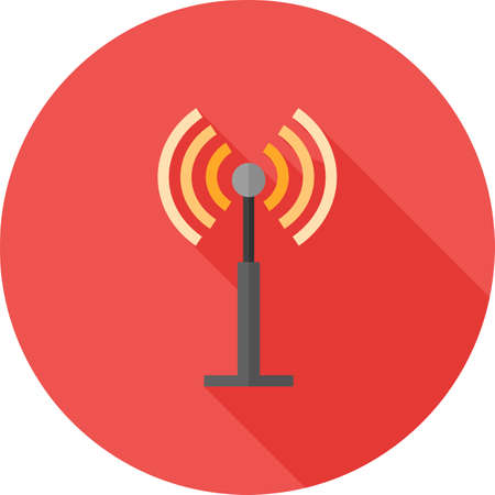 Antenna, signals, waves, beeper icon vector image. Can also be used for communication, connection, technology. Suitable for web apps, mobile apps and print media.