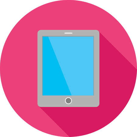 Tablet, smart device, touch screen icon vector image. Can also be used for communication, connection, technology. Suitable for web apps, mobile apps and print media. Stock fotó - 38726840