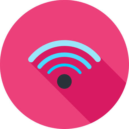 wireless connection: Wifi, wireless, signals, connectivity icon vector image. Can also be used for communication, connection, technology. Suitable for web apps, mobile apps and print media.