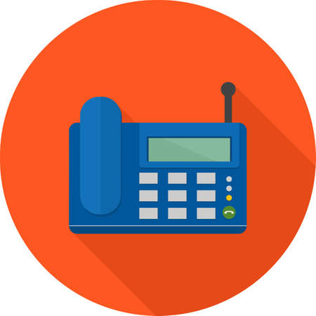 wireless connection: Wireless, landline phone, digital set icon vector image. Can also be used for communication, connection, technology. Suitable for web apps, mobile apps and print media. Illustration