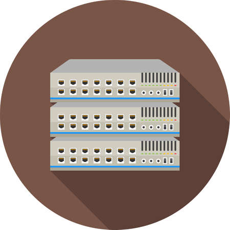 network port: Network switch, server, switch, port icon vector image. Can also be used for communication, connection, technology. Suitable for web apps, mobile apps and print media. Illustration