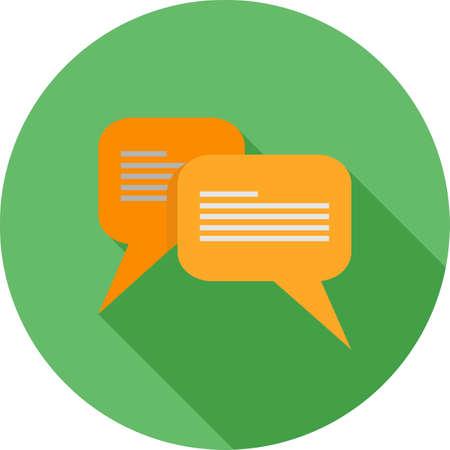メッセージ、チャット、泡、テキスト アイコン ベクトル イメージ。通信、接続、技術も使用できます。Web アプリケーション、モバイル アプリケー