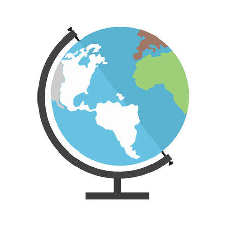 globe illustrations: Globe, earth, world, map icon image.