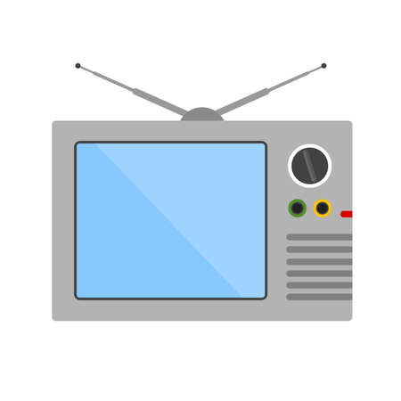 display: Television screen display broadcast icon image.
