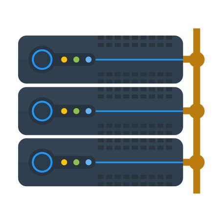 서버, 링크, 시스템, 정보 아이콘 이미지.