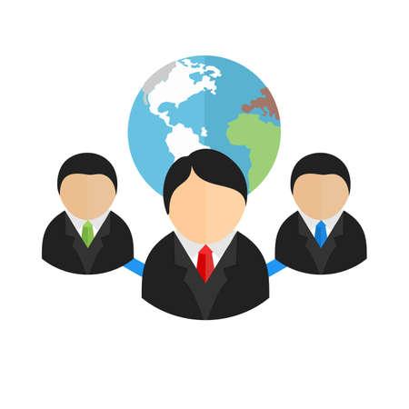 Web クライアント サーバー、クライアント、グローブ、web アイコン イメージ。