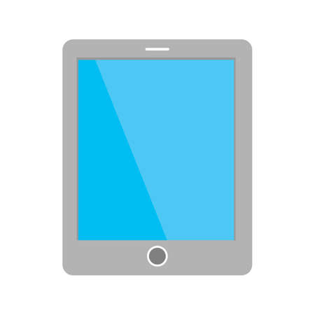 touch: Tablet, smart device, touch screen icon image.  Illustration