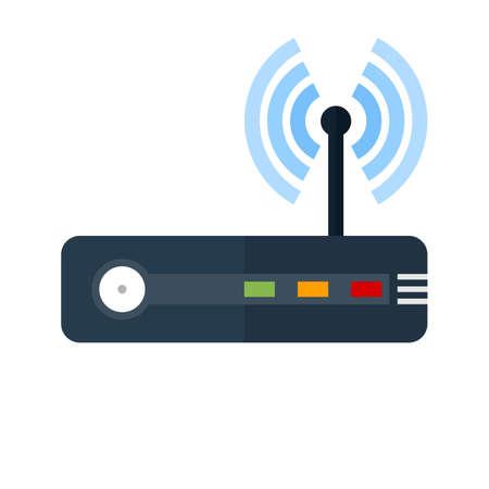 modem: Router, modem hardware, connection icon image.