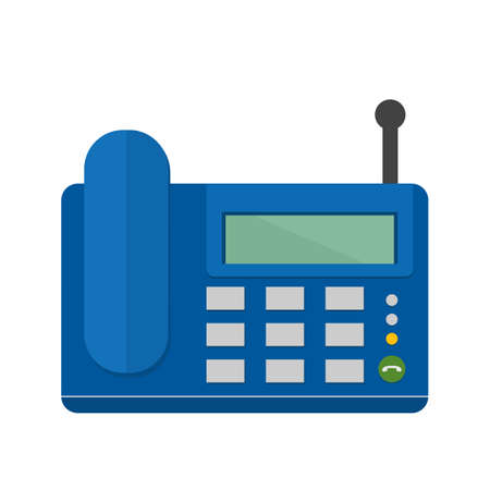 wireless communication: Wireless, landline phone, digital set icon vector image. Can also be used for communication, connection, technology. Suitable for web apps, mobile apps and print media. Illustration