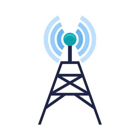 信号、テレコム、タワー、技術アイコン イメージ。  イラスト・ベクター素材