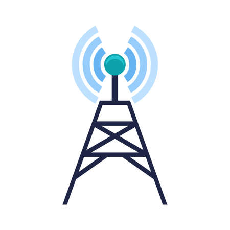 telecom: Signals, telecom, tower, technology icon image.