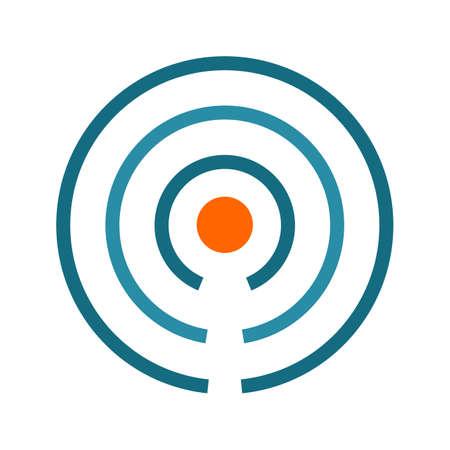 Beacon, señales, icono imagen internet.