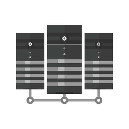hard drive: Data, center, network, server icon image.