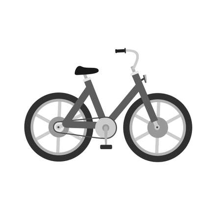 two wheeler: Bicycle, cycle, two wheeler, transport icon image.  Illustration