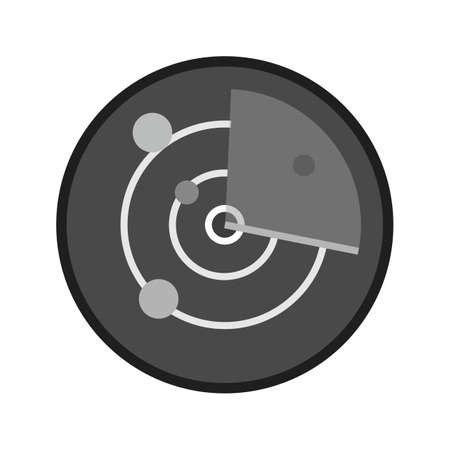 Radar, screen, tracker, equipment icon image.
