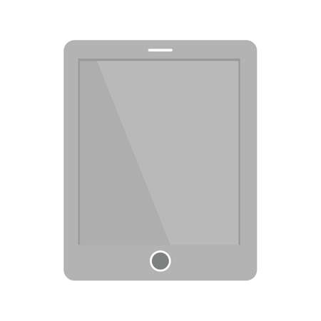 Tablet, smart device, touch screen icon image. Illusztráció