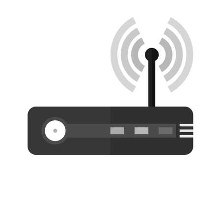 Router, modem hardware, connection icon image.