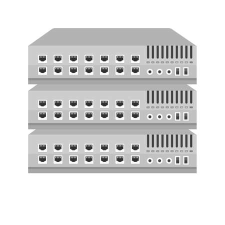 port: Network switch port icon image.