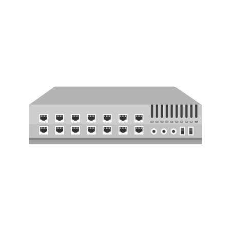 Networking switch, network, router icon image.