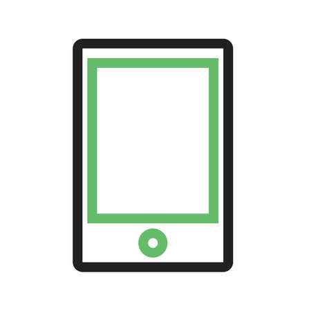 device: Tablet, smart device, touch screen icon image. Illustration