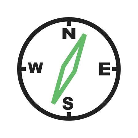 Compass, needle, navigation, equipment icon image.  Çizim