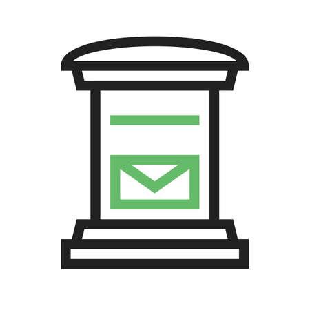 postal service icon image.  Illustration
