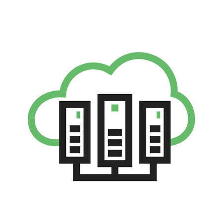 internet servers: Cloud, computing, server icon image.