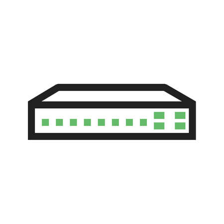 Switch, netwerk, image router pictogram netwerken.