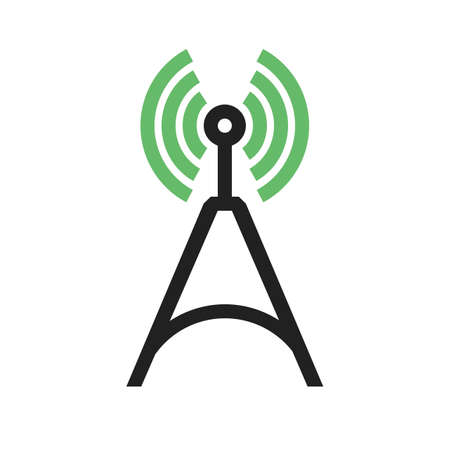 Signals, telecom, tower, technology icon image.