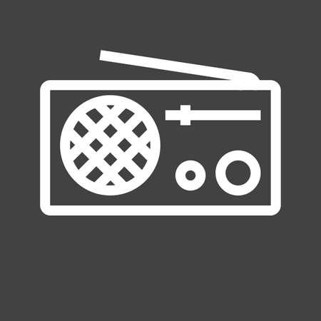 ラジオ、アンテナ、機器アイコン イメージ。  イラスト・ベクター素材