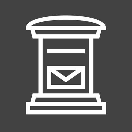 letterbox: Letterbox, post box, post, postal service icon image.