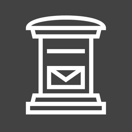 Letterbox, post box, post, postal service icon image.
