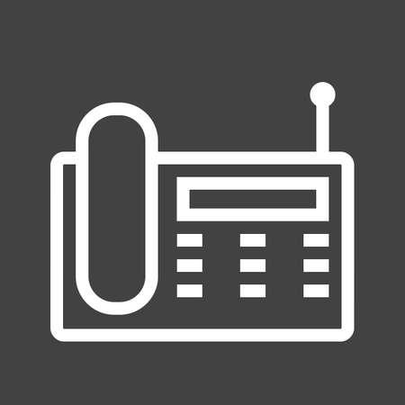 wireless icon: Wireless, landline phone, digital set icon image. Illustration