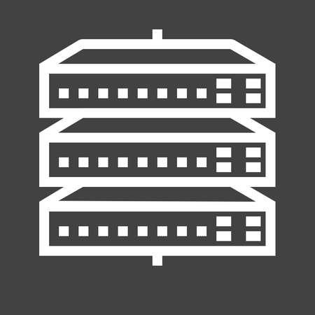 Netwerk switch, server, switch, afbeelding poort icoon.