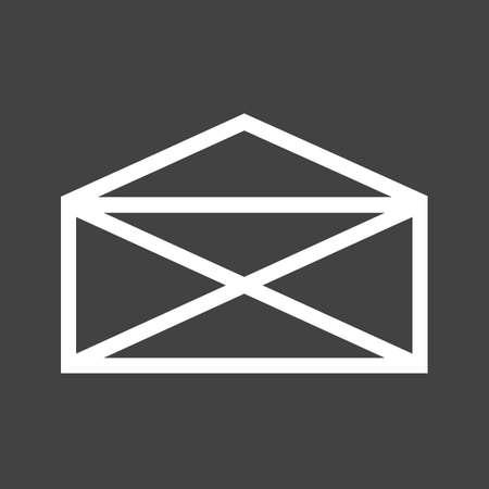 메일, 봉투, 편지, 게시물 아이콘 이미지.