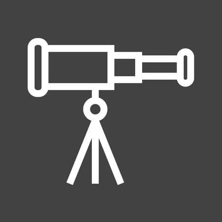 Telescope, binoculars, optical instrument icon image.