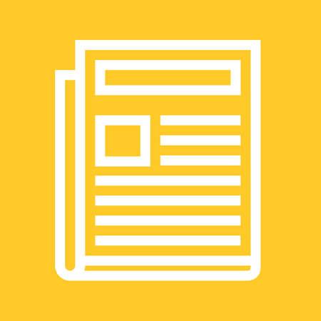 newspaper headline: Newspaper, news paper, network icon image.  Illustration