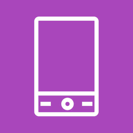 Mobile, mobile phone, smart device icon image.