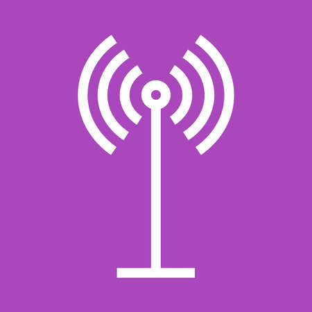 Antenne, signalen, golven, afbeelding pieper icoon. Stock Illustratie
