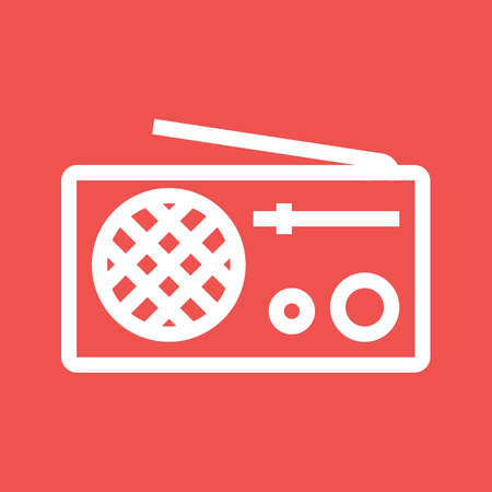 Radio, antenna, equipment icon image.