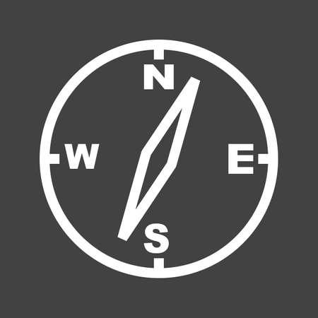 Compass icon image. Çizim