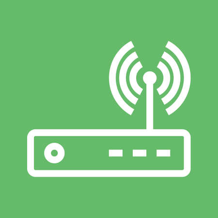 hub computer: Router, modem hardware, connection icon vector image. Can also be used for communication, connection, technology. Suitable for web apps, mobile apps and print media. Illustration
