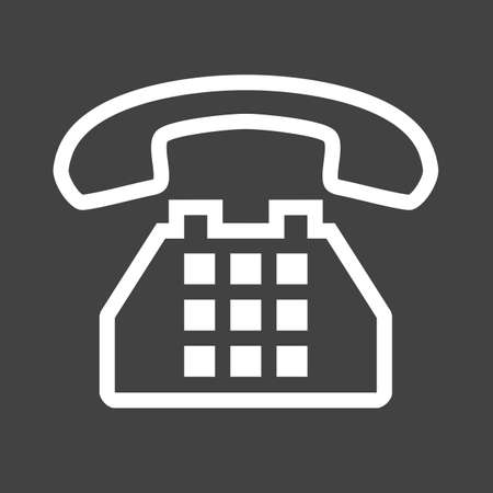 dial pad: Telephone, analog set, device icon image.  Illustration