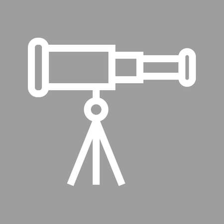 optical image: Telescope, binoculars, optical instrument icon image.  Illustration