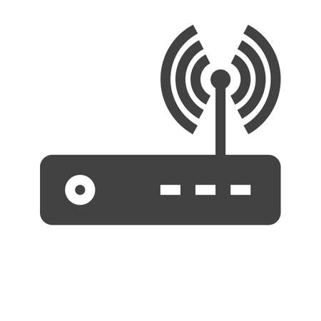 Router, modem hardware, connection icon vector image. Can also be used for communication, connection, technology. Suitable for web apps, mobile apps and print media. 向量圖像