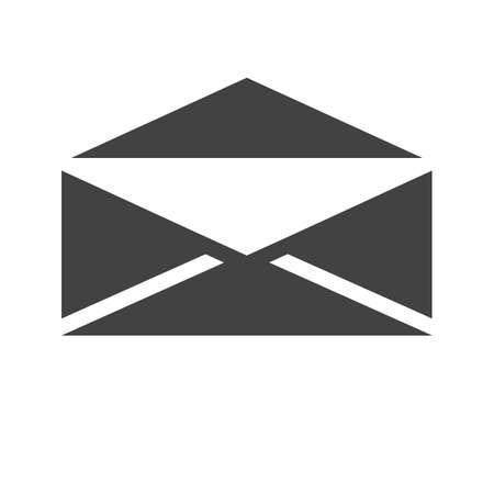 메일, 봉투, 편지, 게시물 아이콘 벡터 이미지. 통신, 연결, 기술에도 사용할 수 있습니다. 웹 앱, 모바일 앱 및 인쇄 매체에 적합합니다. 일러스트