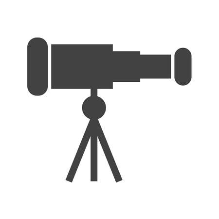optical instrument: Telescope, binoculars, optical instrument icon vector image. Can also be used for communication, connection, technology. Suitable for web apps, mobile apps and print media.
