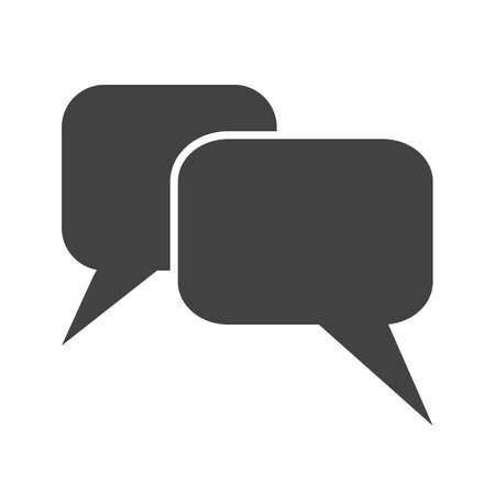 メッセージ、チャット、泡、テキスト アイコン ベクトル イメージ。通信、接続、技術にも使用できます。Web アプリ、携帯アプリ、印刷メディアに