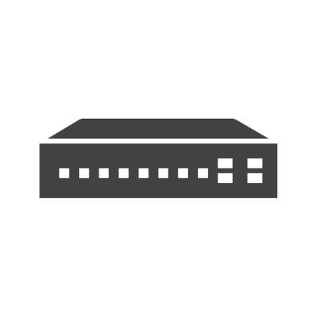 hub computer: Networking switch, network, router icon vector image. Can also be used for communication, connection, technology. Suitable for web apps, mobile apps and print media. Illustration
